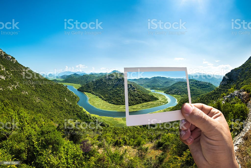 Rijeka Crnojevica on the photograph stock photo