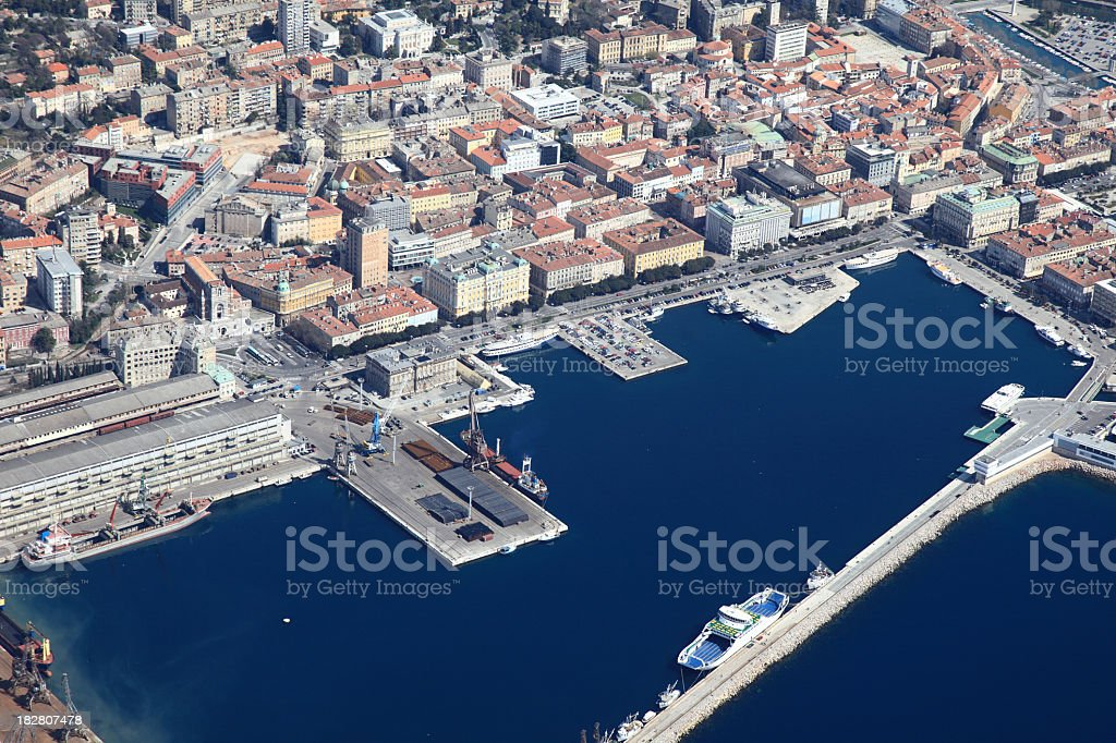 Rijeka panorama royalty-free stock photo