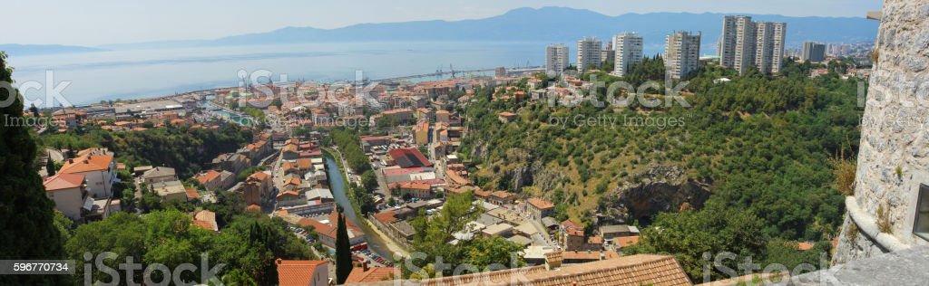 Rijeka panorama stock photo