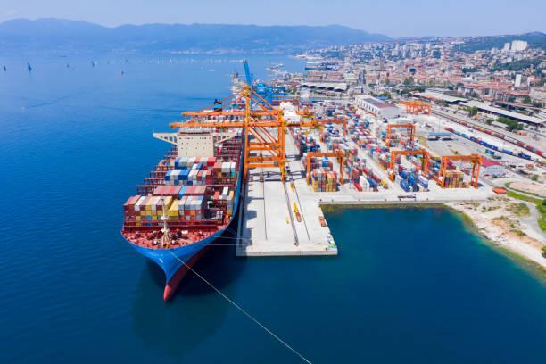 Rijeka port stock photo