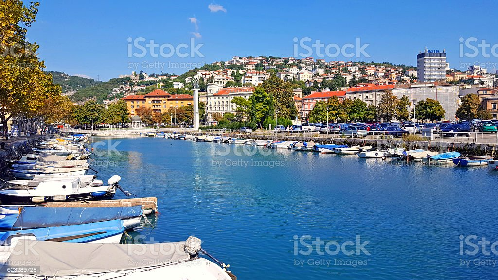Rijeka skyline stock photo