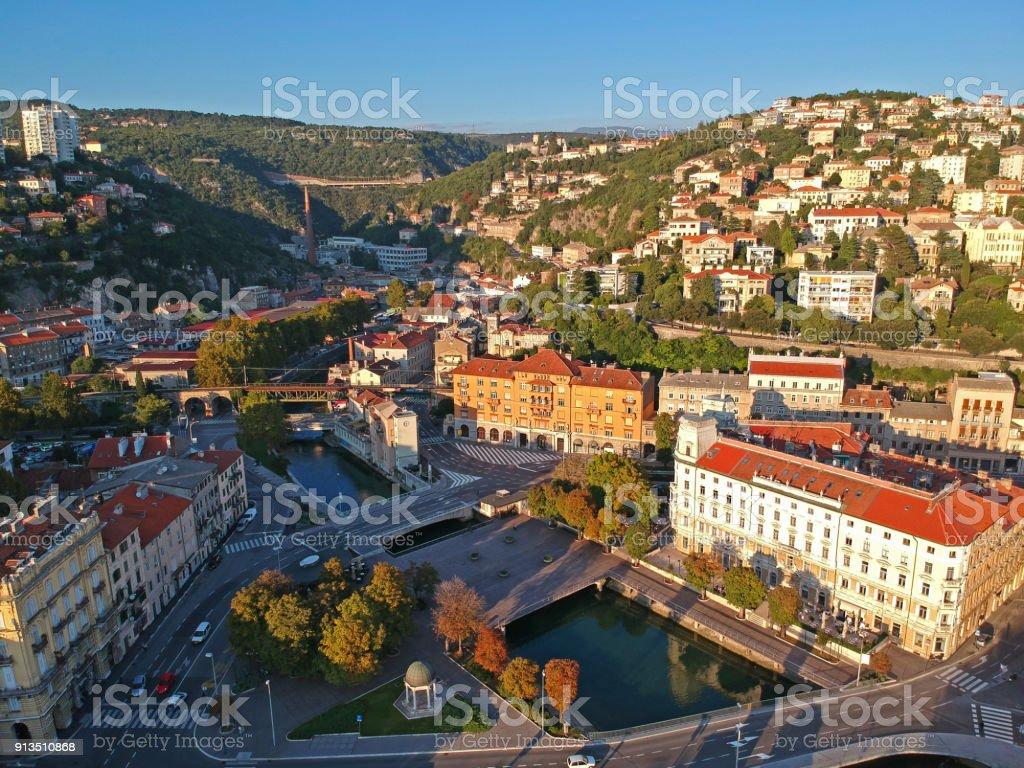 Rijeka skyline stock photo