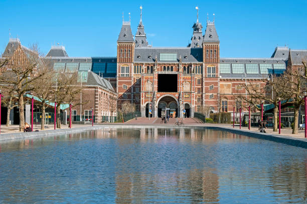 Rijksmuseum in Amsterdam, Netherlands Amsterdam, Netherlands - March 25, 2020: Rijksmuseum in Amsterdam, Netherlands rijksmuseum stock pictures, royalty-free photos & images