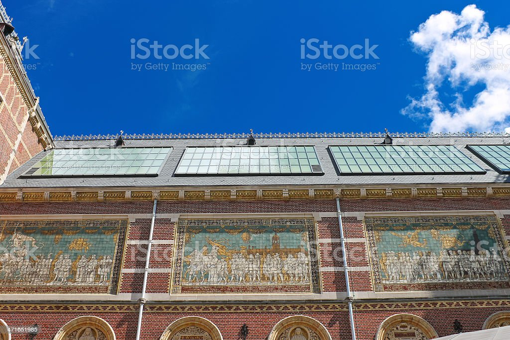 Rijksmuseum in Amsterdam. Netherlands stock photo