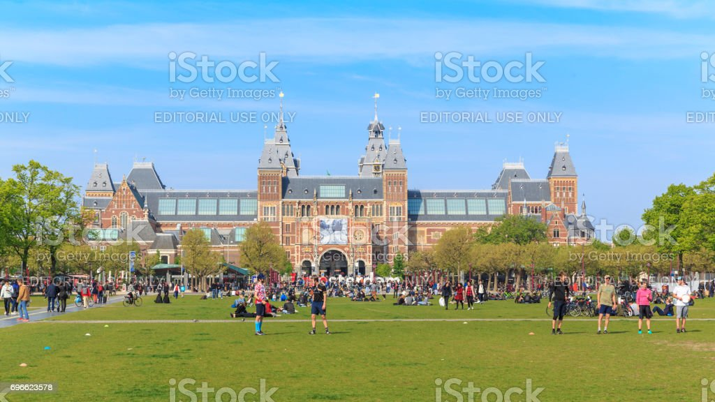 Rijksmuseum w Holandi stock photo