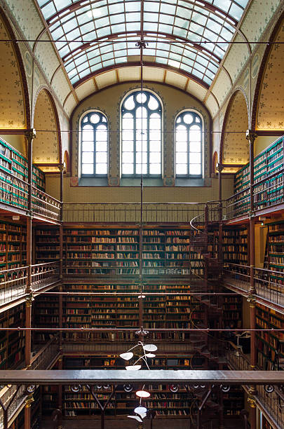 Rijksmuseum Research Library Amsterdam, Netherlands - May 6, 2015: Rijksmuseum Research Library on May 6, 2015. This is the largest public art history research library in the Netherlands. The library is part of the Rijksmuseum in Amsterdam. rijksmuseum stock pictures, royalty-free photos & images