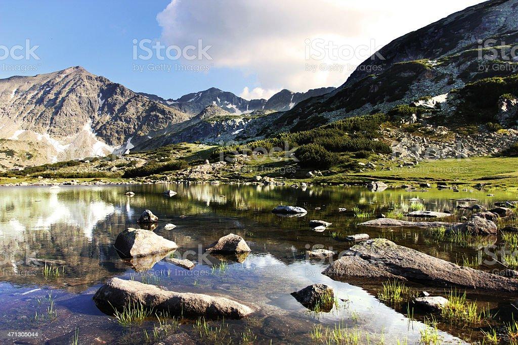 Rila lakes stock photo