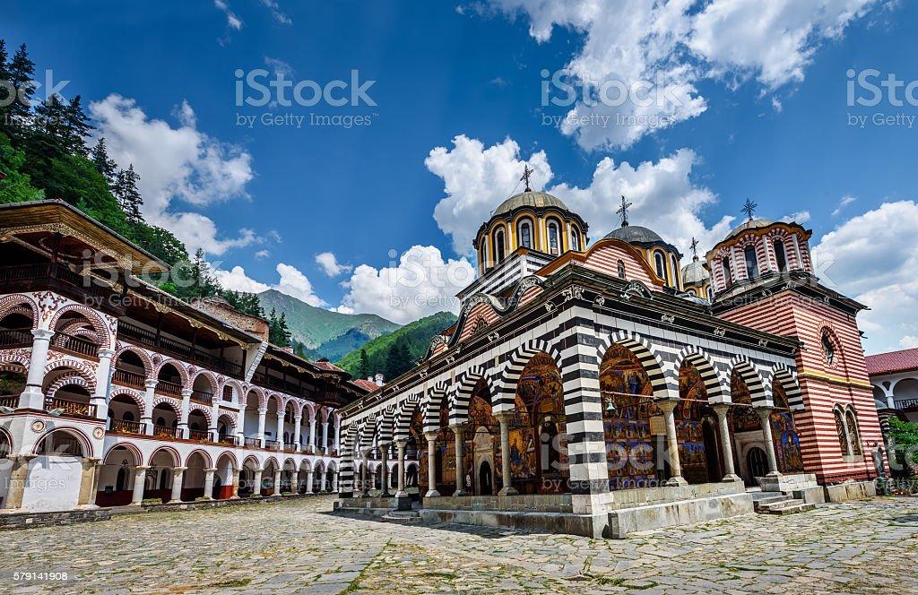 Rila monastery, a famous monastery in Bulgaria. stock photo