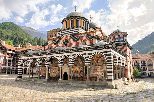 Rila monastery, Bulgaria The Monastery of Saint Ivan of Rila or  Rila Monastery is the largest and most famous Eastern Orthodox monastery in Bulgaria. monastery stock pictures, royalty-free photos & images