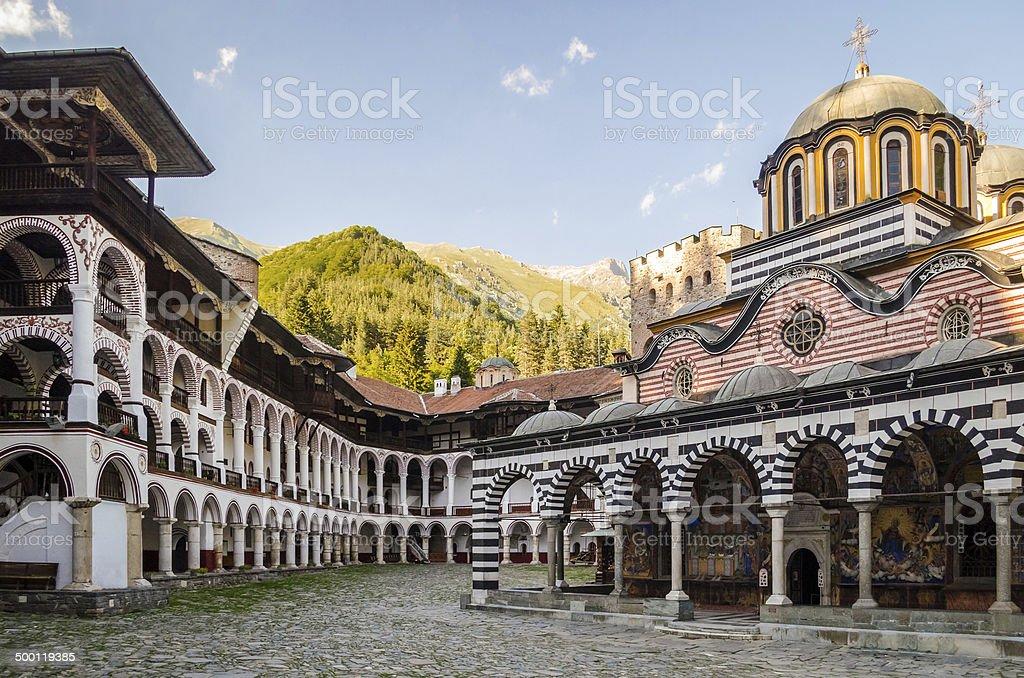 Rila Monastery, Bulgaria stock photo
