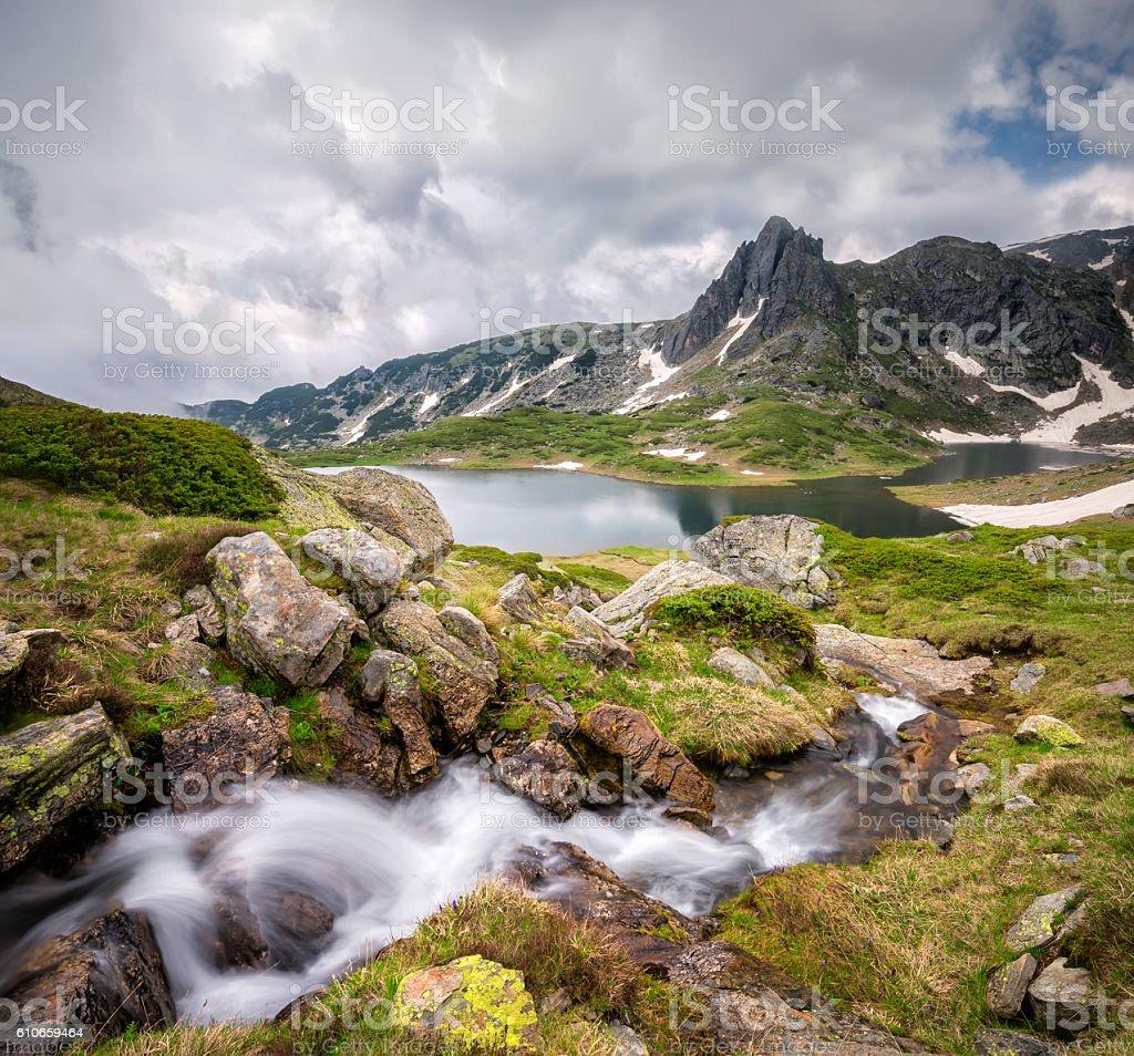 Rila mountains stock photo