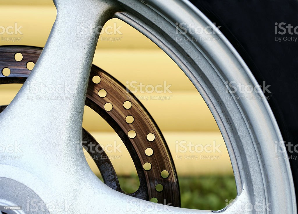 Rim of a motorcycle royalty-free stock photo