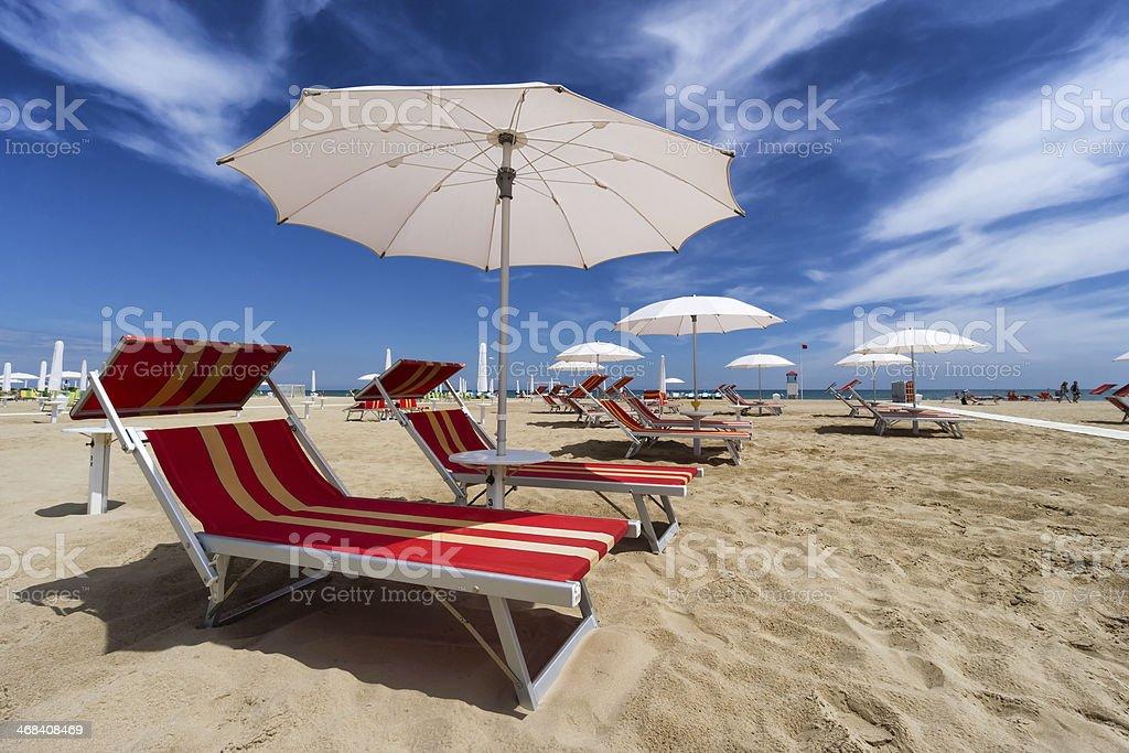 Rimini und Riccione beach. Emilia Romagna, Italien – Foto