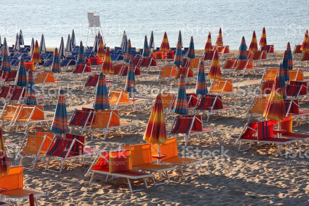 Rimini Beach royalty-free stock photo