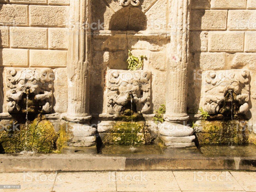 Rimondi Fountain, in the city of Rethymno photo libre de droits