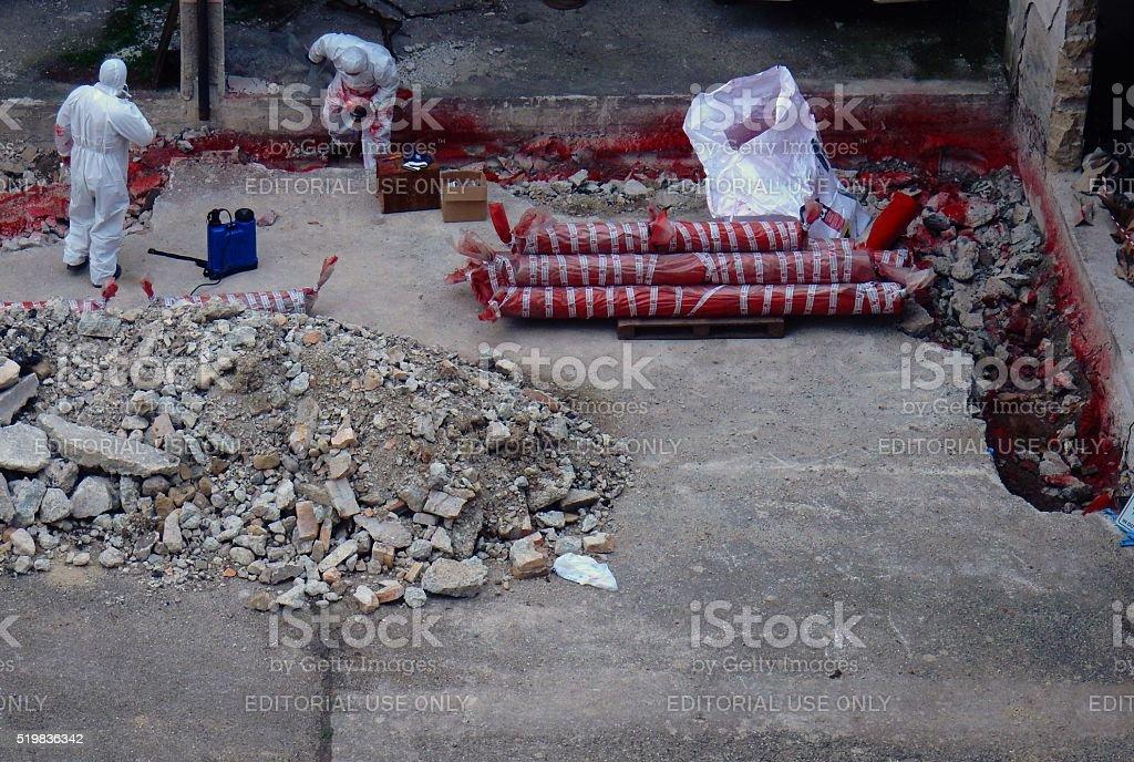 Rimozione amianto stock photo