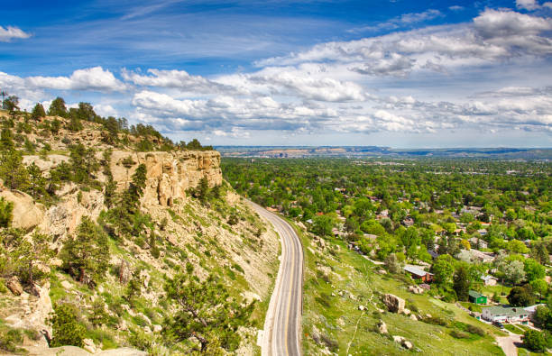 rimrock views - montana western usa stock pictures, royalty-free photos & images