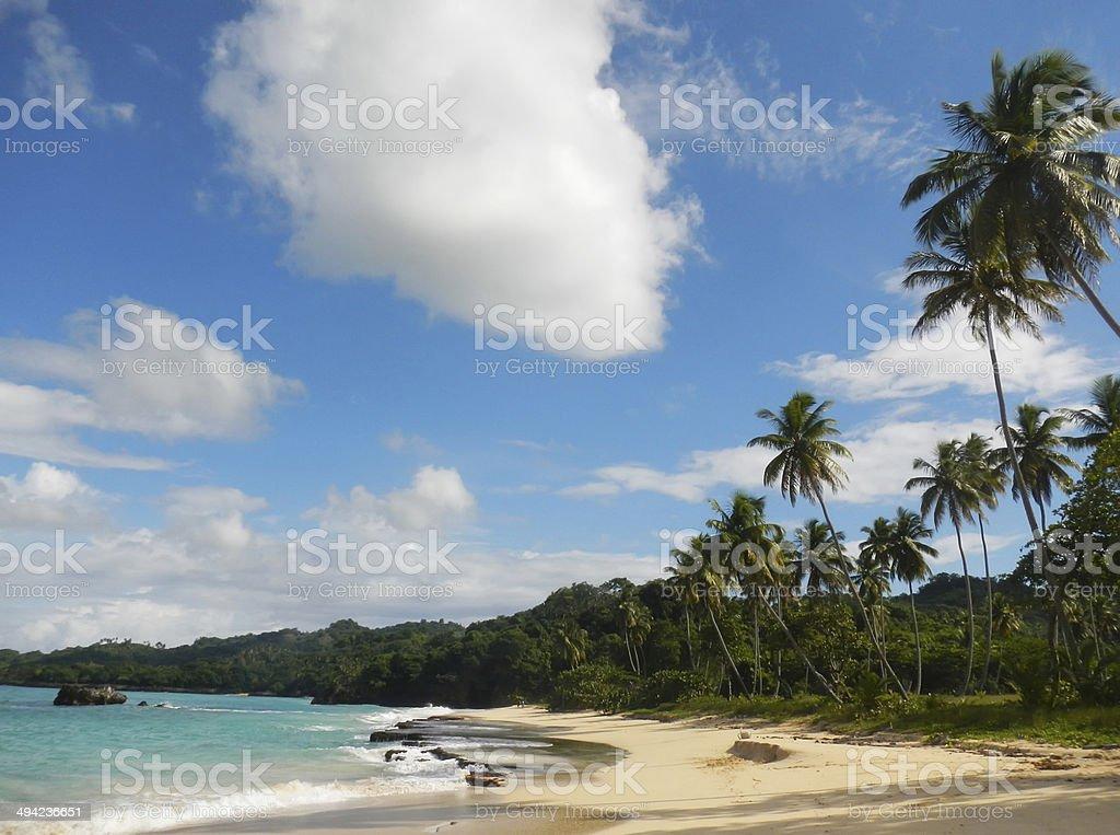 Rincon beach, Samana peninsula stock photo