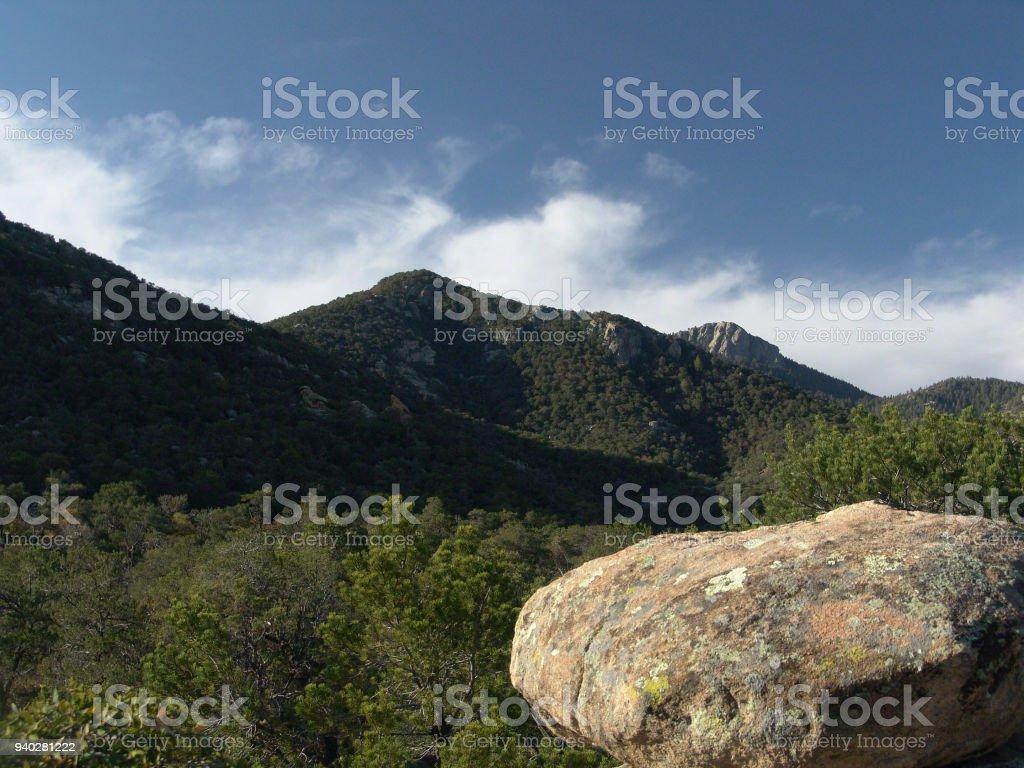 Rincon Peak from Happy Valley Saddle stock photo