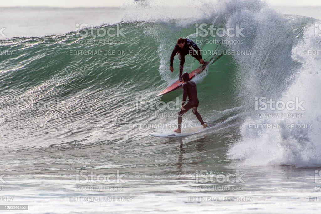 Rincon Point in Santa Barbara County stock photo