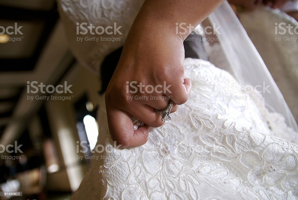 Ring and Hand stock photo