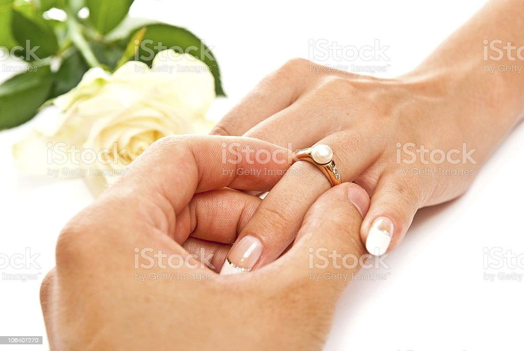 Ring and hands royalty-free stock photo