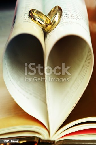 Bible, Engagement Ring, Gold, Heart Shape, Ring