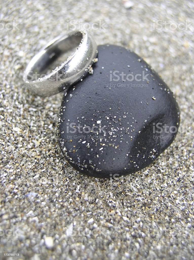 ring and pebble royalty-free stock photo