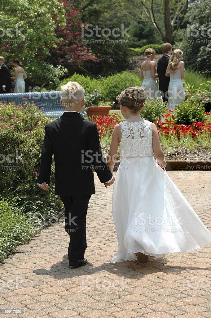 Ring Bearer and Flower Girl royalty-free stock photo
