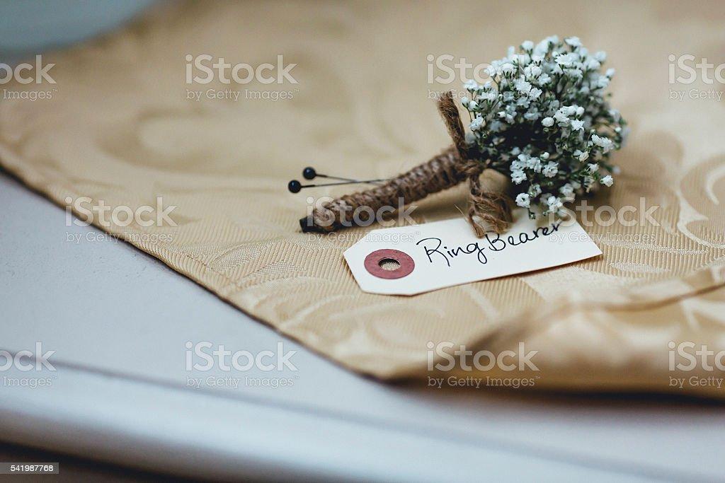 Ring bearer stock photo