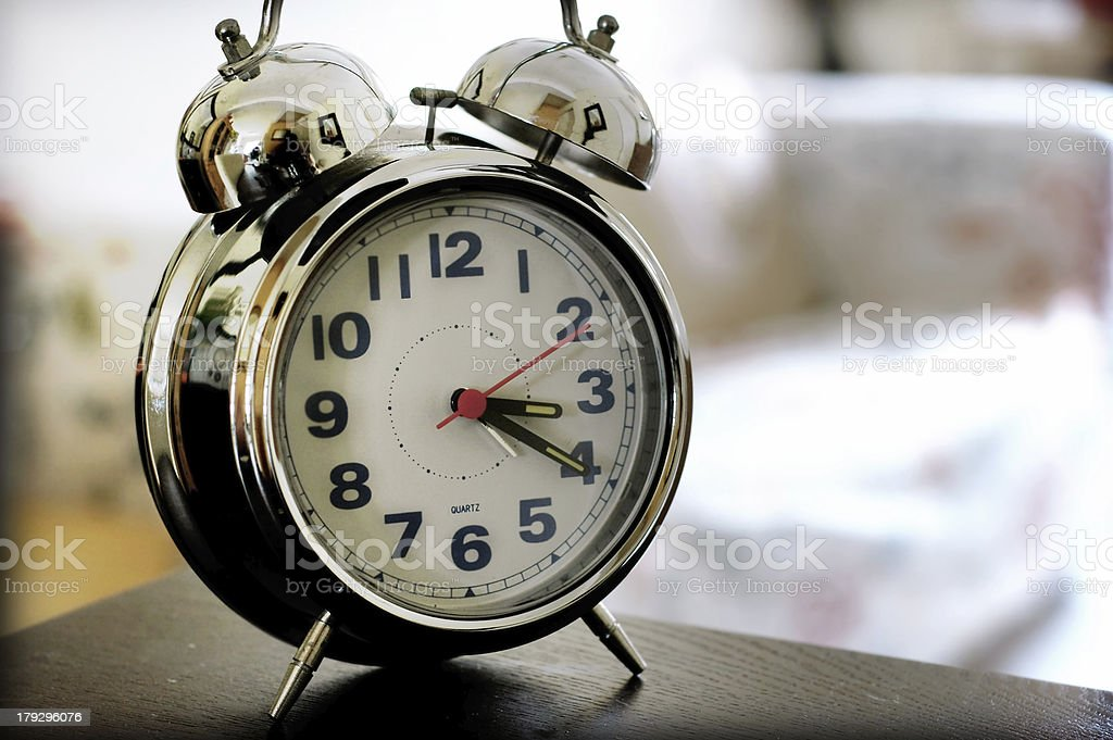 Ring bell clock royalty-free stock photo