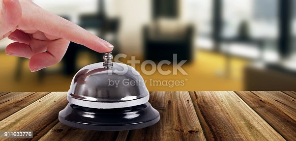 istock Ring bell in the hotel 911633776