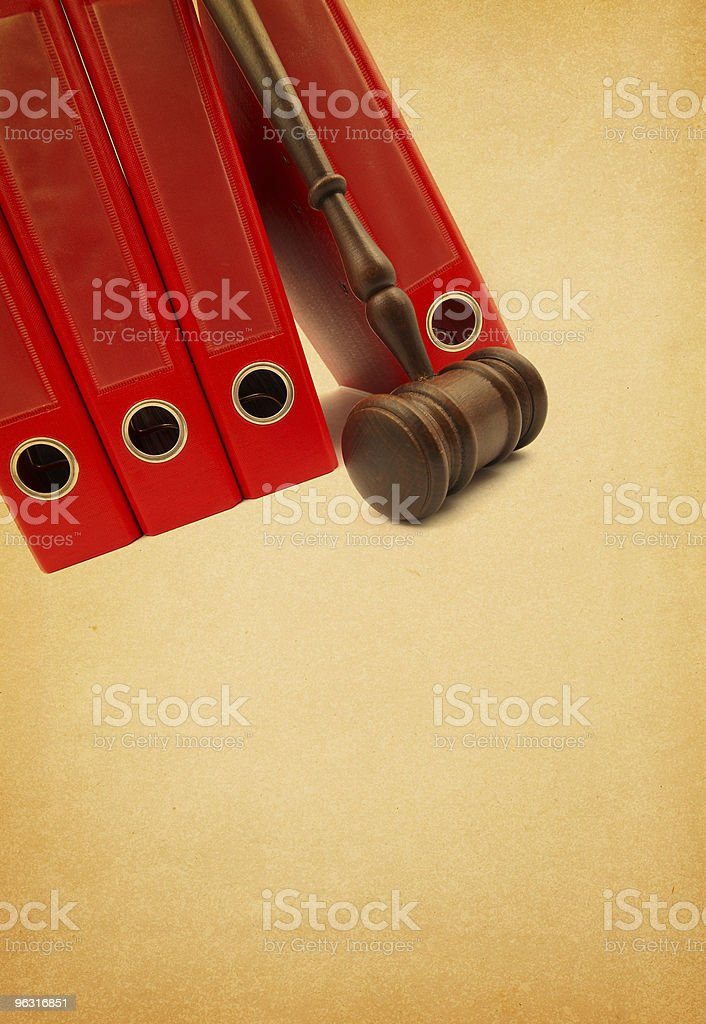 Ring Binder and Gavel royalty-free stock photo