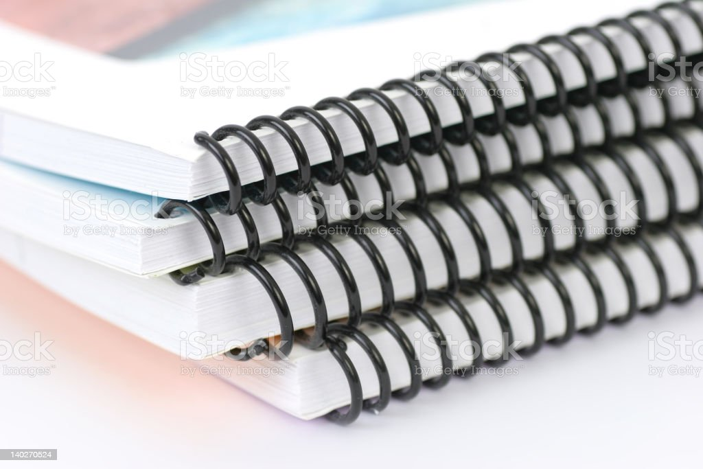 Ring Binder Isolated royalty-free stock photo