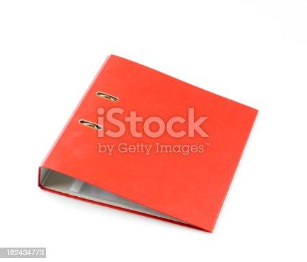 istock ring binder - roter Ordner 182434773