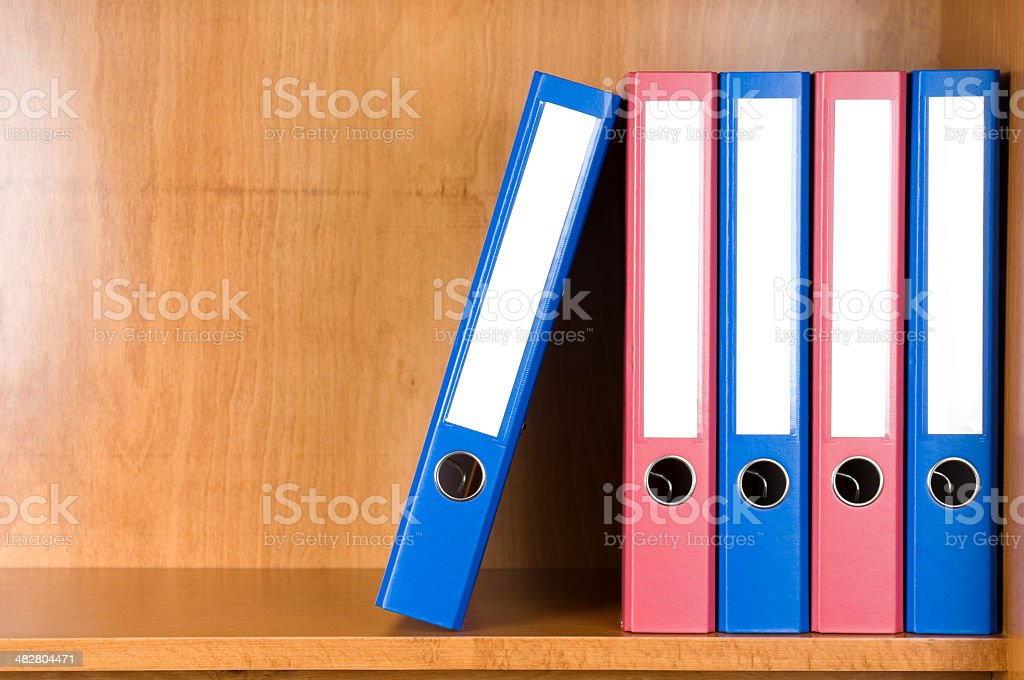 ring binders stock photo