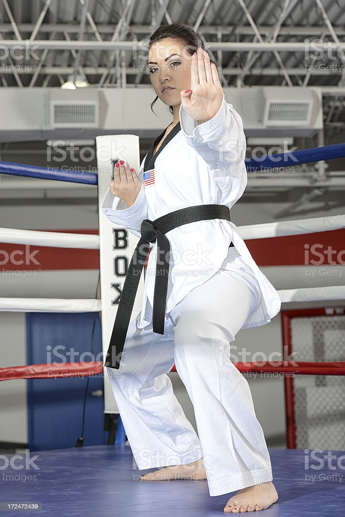 Ring defense royalty-free stock photo