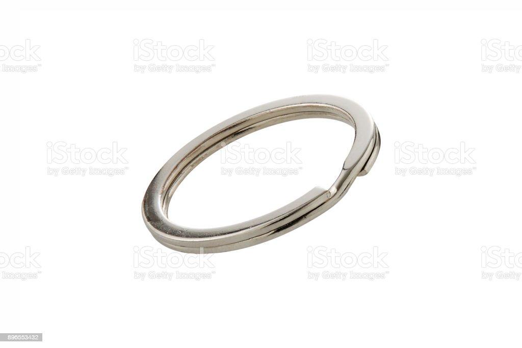 Ring für Schlüsselhalter isoliert auf weiss – Foto
