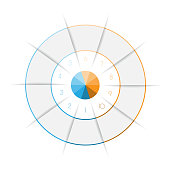 Ring from colored lines infographic ten number options for text areas