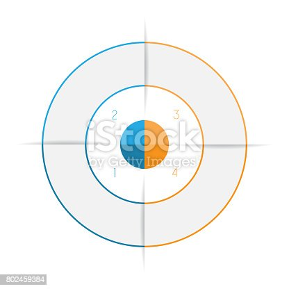 istock Ring from colored lines infographic 802459384