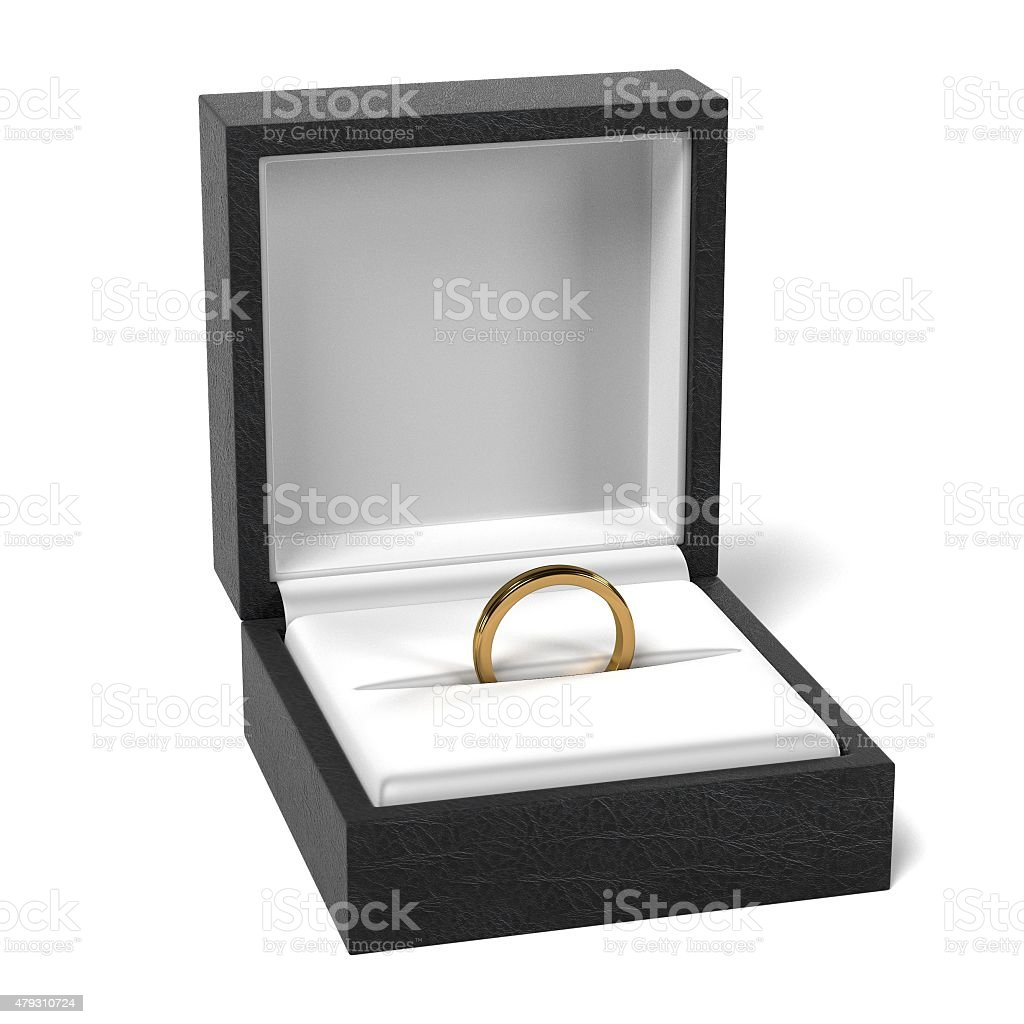 ring in box stock photo