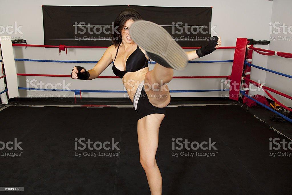 Ring Kick royalty-free stock photo