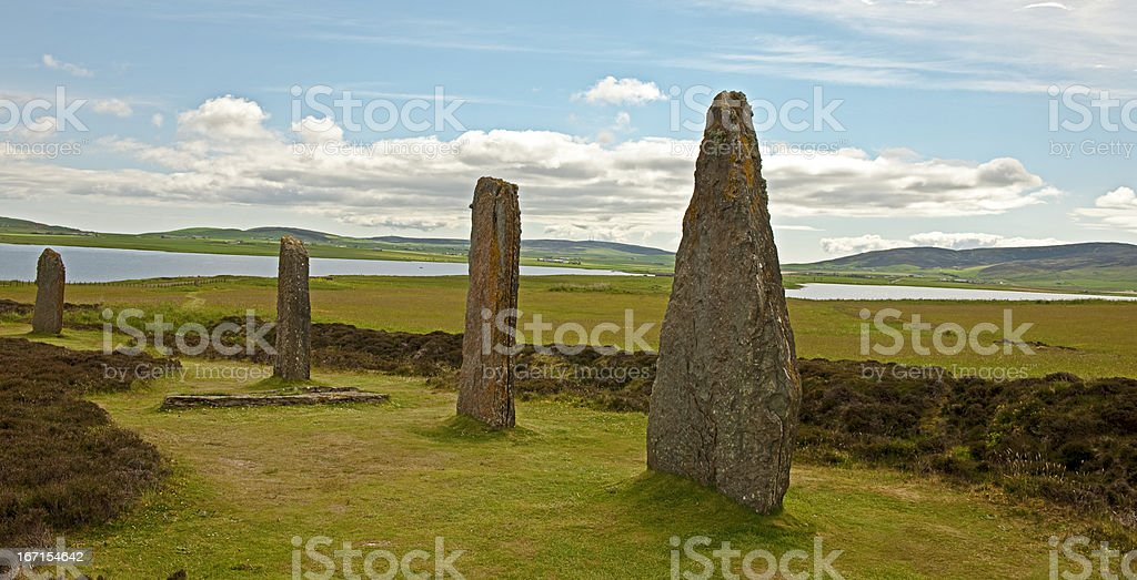 Ring of Brodgar, Orkney royalty-free stock photo