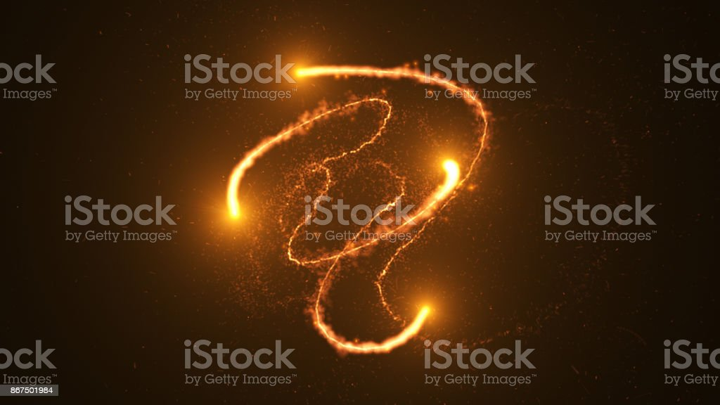 Ring of fire, Plasma ring on a dark background. stock photo