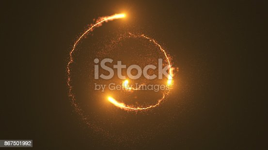 istock Ring of fire, Plasma ring on a dark background. 867501992