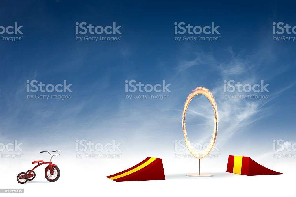 Ring of fire stunt stock photo