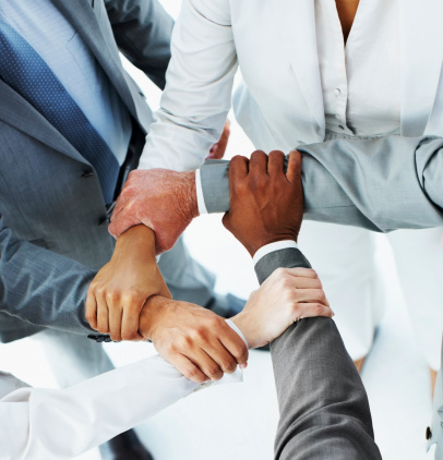 Ring Of Hands By The Business People Stock Photo - Download Image Now
