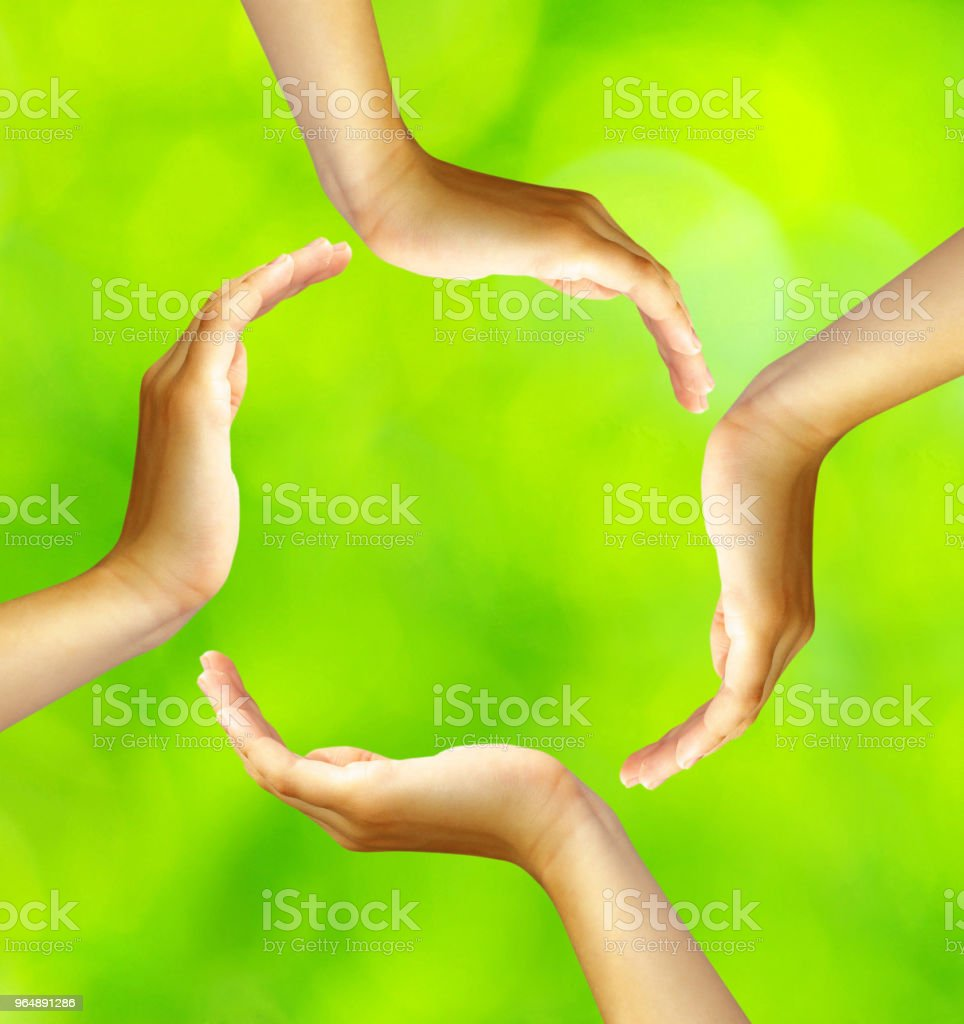 ring of hands royalty-free stock photo