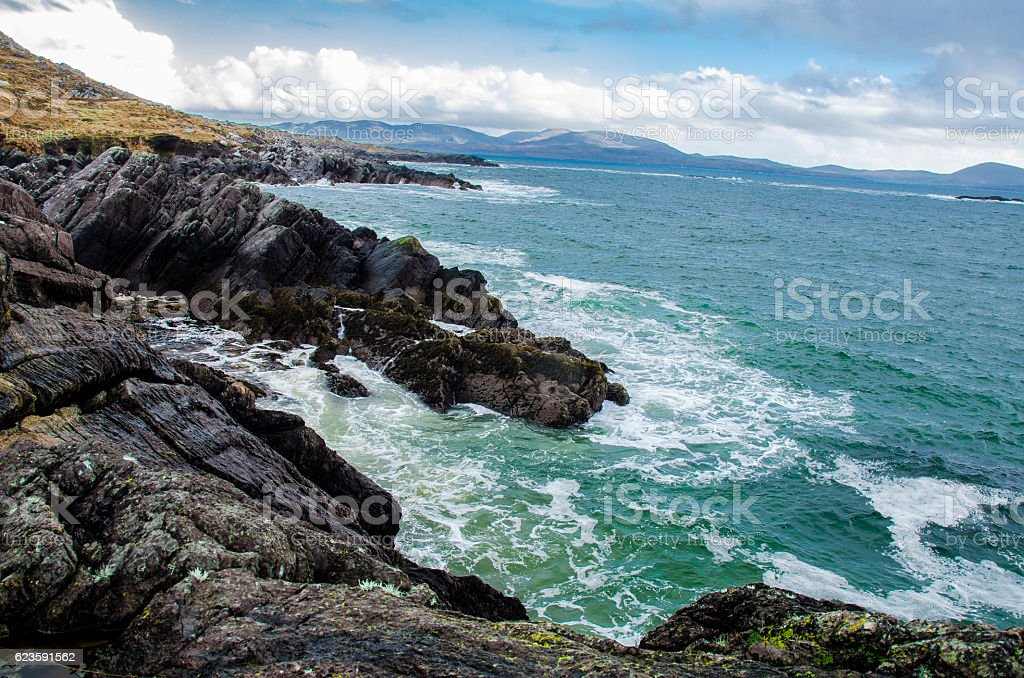 Ring of Kerry coastline stock photo