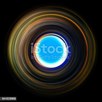 844330076istockphoto ring of light. rotation and circulation. colorful abstract background. 844329958